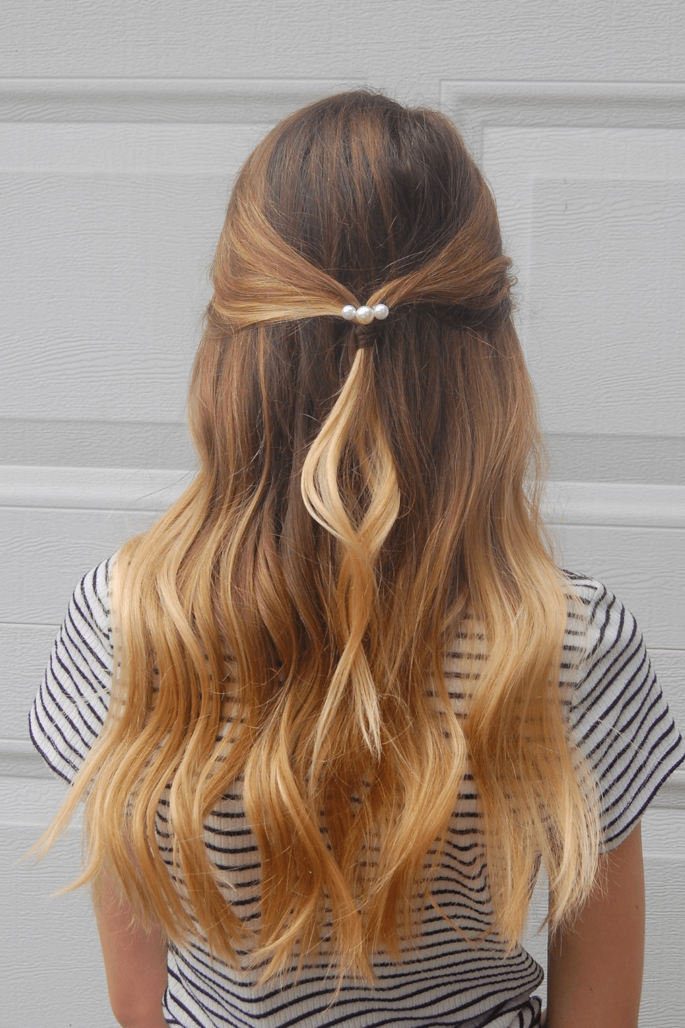 Bobby Pin Pearl Hairstyle
